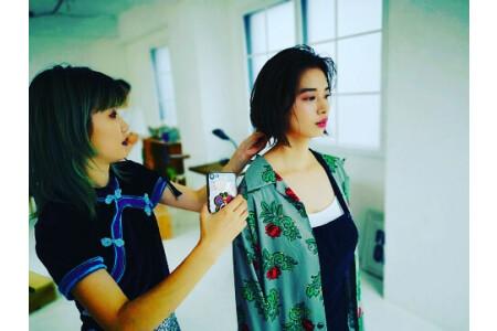 撮影会 雑誌掲載 コレクション参加 タレントのヘアメイク